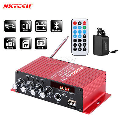 NKTECH MA-130 Audio Amplificador Digital Reproductor Bluetooth HiFi Estéreo BASS