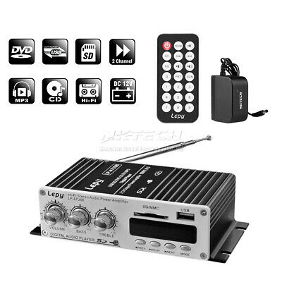 Lepy LP-A7 USB Audio Amplificador Digital Reproductor Bluetooth 4.2 MINI 2CH 20W