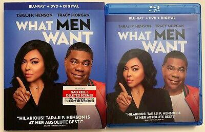 What Men Want Blu Ray Dvd 2 Disc Set + Slipcover Sleeve Free World Wide Shipping