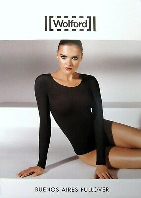 Wolford Buenos Aires Pullover clove nude braun sexy sheer S OVP