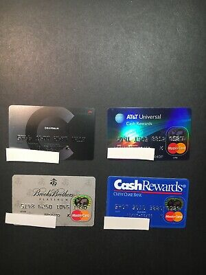 4 Vintage Expired Credit Cards For Collectors - MasterCard Lot 8 (3283)
