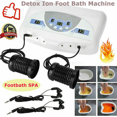 Professional Dual Ion Detox Ionic Foot Bath Ion Spa Machine Cell Cleanse NEW