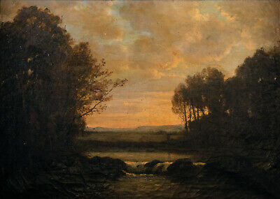 School of Barbizon | 19th century French landscape oil on canvas Old Master