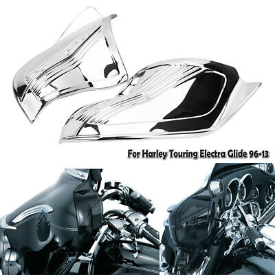 """8/"""" Black Windshield/&Slotted Stock Batwing Trim for Harley Touring Electra Glide"""