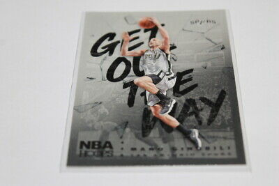 2018-19 NBA Hoops Get Out The Way Manu Ginobili # GOW-17  San Antonio Spurs