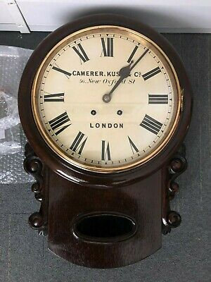 "Camerer, Kuss & Co. 12"" drop dial wall clock"