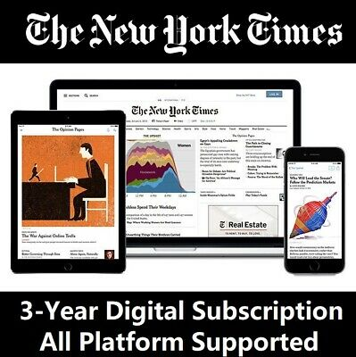 The New York Times NYTimes 3-Year Digital Subscription All Platforms Region Free