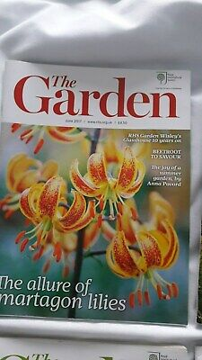 4 x RHS The Garden Magazines - June, July, Aug, Sept  2017 issues