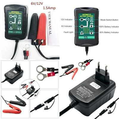 Motorbike Battery Charger, MASO 12V Automatic Maintainer 1.5A 4 stages...