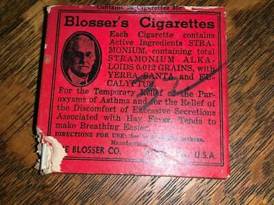 Antique Medical Quackery Cigarettes for Asthma Full Pack