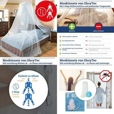 Glorytec Mosquito Net - With 2-Way Zipper for Double Bed and Single -...