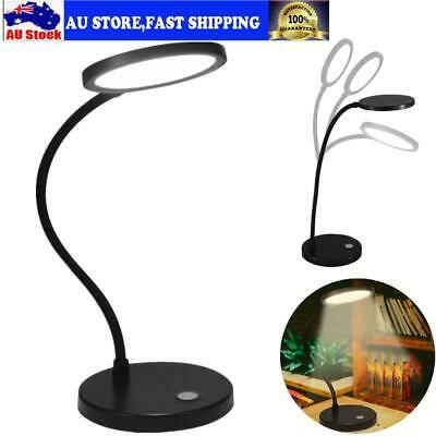 TOP LED Desk Table Lamp USB Dimmable Switch Eye Care Reading Light Home AU