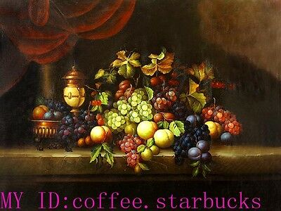 """Art Repro oil painting:""""Classic Fruit Still Life at canvas"""" 24x36 Inch #036"""