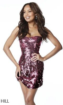 8d46635869a Sherri hill sequin prom homecoming formal cocktail Dress sparkle size  Xxsmall 00