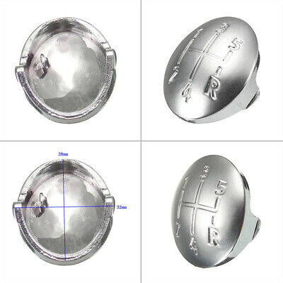 For Renault Clio Megane Gear Shift Knob Cover Replacement Silver Insert Badge