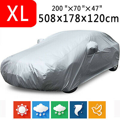 XL Full Car Cover Waterproof Anti-Scratch Sun UV Dust Rain Resistant Protection