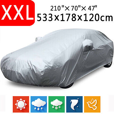 XXL Full Car Cover Anti-Scratch In Out door Sun UV Dust Rain Resistant Protector