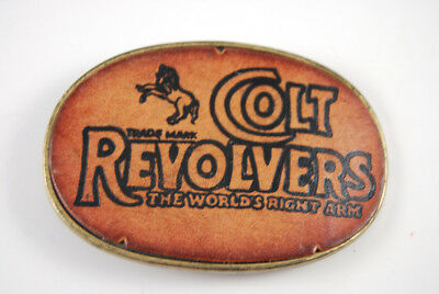"Colt Revolvers Oval Belt Buckle ""The World's Right Arm"""