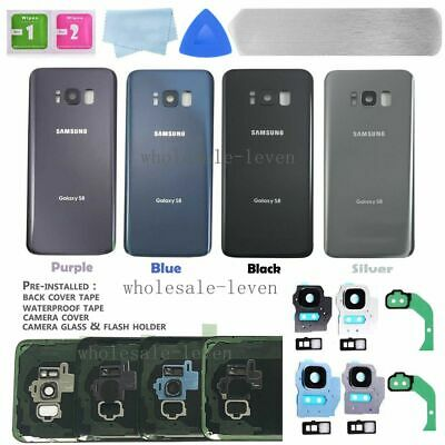 OEM Back Glass Cover housing Battery Door Replacement Samsung Galaxy S7 S8 S9
