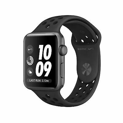 Apple Watch Nike+ Series 3 38mm Smartwatch GPS Only Gray Case Black Band