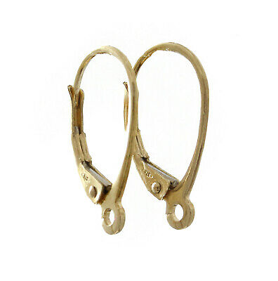 9ct Yellow Gold Earring Lever Back Clip Drop Ear Wires Continental Findings