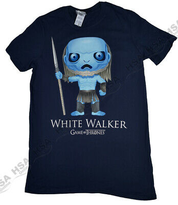 Mens Official Game Of Thrones GOT Pop Art White Walker Tshirt,BirthdayGift,S-XXL