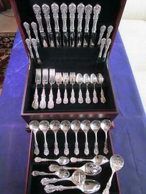 Dinner Size Reed Barton*Francis I*Sterling Silver Flatware*Set-S-8+Servers*Mint*