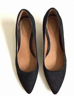 3a4632e6e44b1 New Clarks Artisan Sage Copper Pumps in Pony Hair. Black. Women's Size 8M.