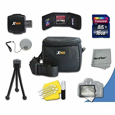 Starter Accessory Kit for Fuji FinePix S9800, S9900W, S9400W, S9200, S8600,