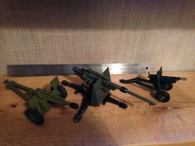 VINTAGE DINKY BRITAINS DIE-CAST 3 x ARMY BUNDLE JOB LOT. FREE UK POSTAGE.