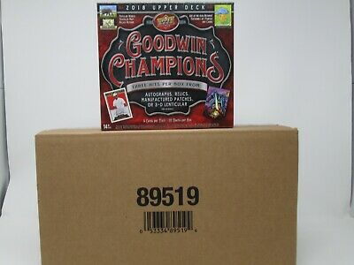 2018 Upper Deck Goodwin Champions Hobby 8 Box Case!