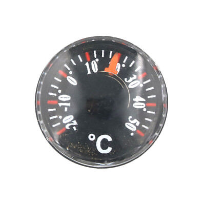 Mini Thermometer Plastic pointer Round Degrees Indoor and Outdoor Household NJ
