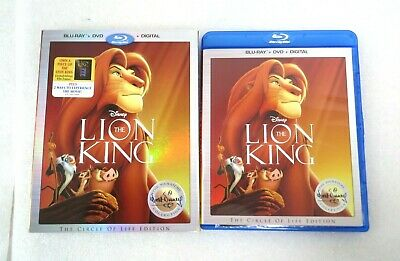 The Lion King (Blu-ray/DVD, 2017, 2-Disc Set, Signature Series) DISNEY Film