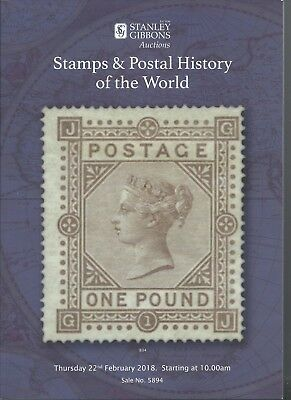 Stanley Gibbons Stamps and postal history of the world 2018 Auction Catalogue