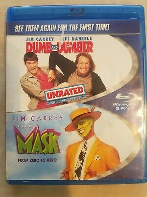 Dumb & Dumber / The Mask BLU RAY 2 PACK JIM CARREY *Combine Shipping Ships FAST!