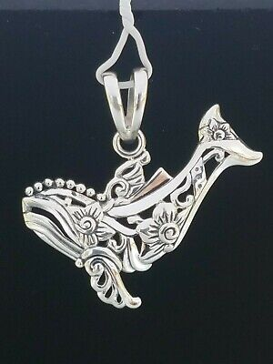 Whale Filigree Sterling Silver Pendant by Peter Stone Fine Jewelry
