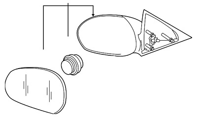 Genuine Ford 6S4Z-17683-CACP Outer Rear View Mirror Assembly