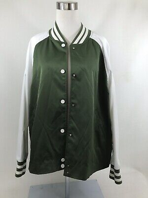 Hunter for Target Women/'s Olive Green Varsity Swing Jacket Size NEW WITH TAGS M