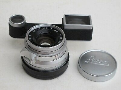 Leica M 35mm f:2 RF Summicron 8 element lens with caps #1687xxx Germany MINTY