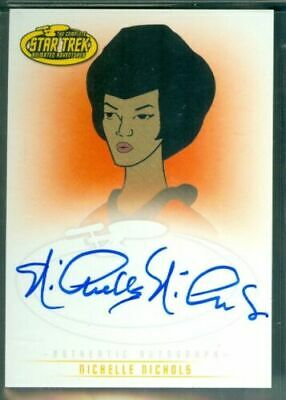 Star Trek Animated ( A4 ) Nichelle Nichols as Lt Uhura Autograph Card