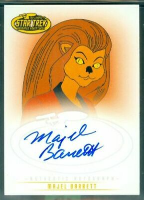Star Trek Animated ( A5 ) Majel Barrett as Lt M'Ress Autograph Card