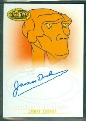 Star Trek Animated ( A6 ) James Doohan as Lt Arex Autograph Card