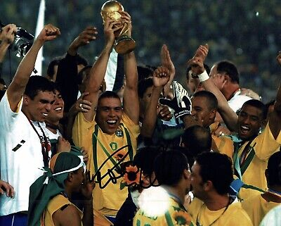 """Ronaldo signed 10x8"""" Photo Real Madrid And brazil Proof W#907"""