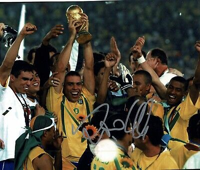 """Ronaldo signed 10x8"""" Photo Real Madrid And brazil Proof W#903"""