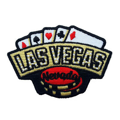 Las Vegas Iron On Travel Patch - Cards and Gambling Chips