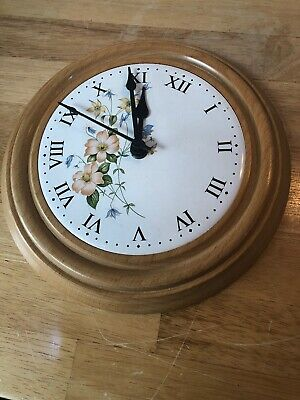 Vintage Mid Century Wooden Beech Kitchen Wall Clock Junghans Eames