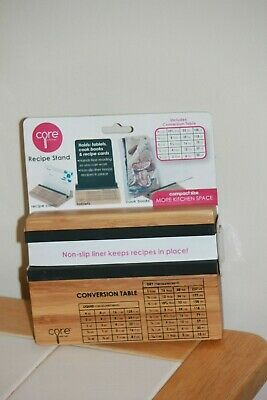 Hands Free Recipe  Holder Wooden  Kitchen & Desktop Stand ( Core kitchen) NWT