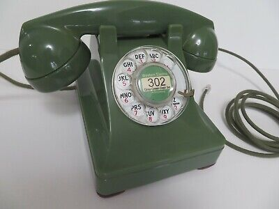 Antique Western Electric telephone Green Model 302 Restored Working Beauty