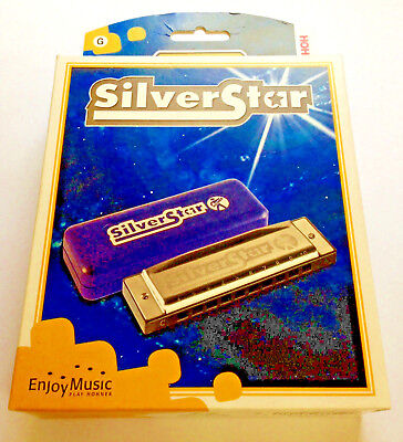 NEW Boxed Hohner Siver Star Harmonica in C or G major Diatonic⭐️⭐️⭐️