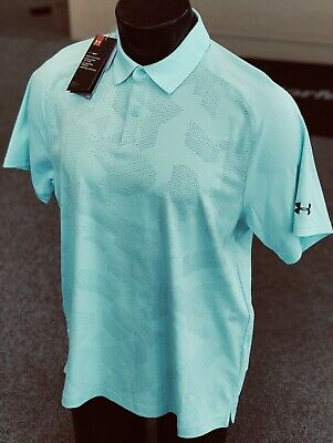 b0fef3f7b75 Under Armour Tour Tips Championship Golf Polo UM0817 Neo Turquoise (L)  #80163
